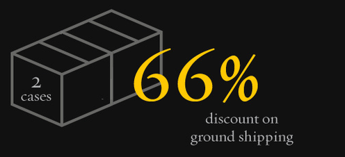 2 Cases - 66% discount on ground shipping