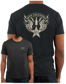 Mens Premium Crew Tee - Faded Black